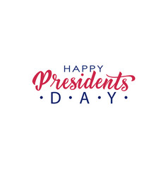 Happy presidents day hand lettering in usa vector