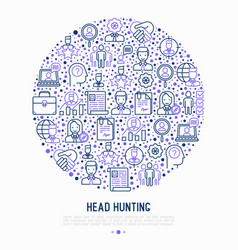 Head hunting concept in circle vector