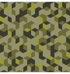 Hexagonal cubic camouflage vector