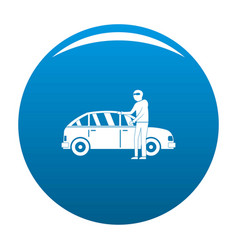 Hijacker icon blue vector