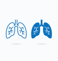 Human lungs icon on white logo template for vector