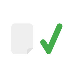 icon concept of blank paper with check mark vector image