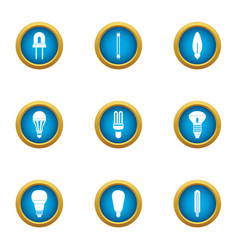 Ignite icons set flat style vector