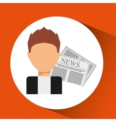 Innterviewed news microphone paper design vector