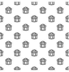 jewish gift box pattern seamless vector image