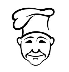 Joyful chef in a high hat vector