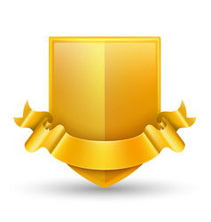luxury gold badge vector image