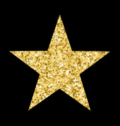 Luxury gold star element for advertising poster vector
