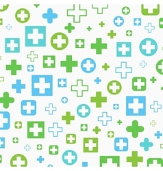 Medical background blue and green crosses vector