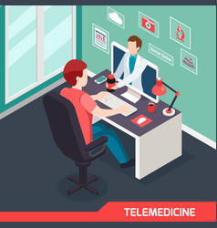medical technology isometric composition vector image