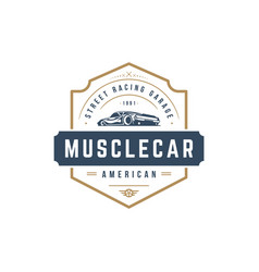 muscle car logo template design element vector image
