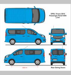 Opel vivaro passenger van l1h1 2015 vector