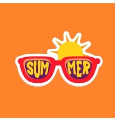 Pair Of Shades Bright Color Summer Inspired vector