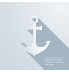 Paper anchor icon vector image