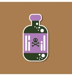 paper sticker on stylish background potion in vector image