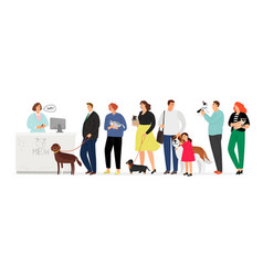 people in veterinary clinic vector image