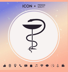 Pharmacy symbol medical snake and cup vector