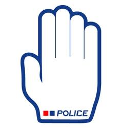 Police symbol vector image