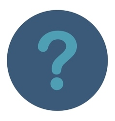 Question flat cyan and blue colors round button vector