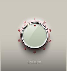 realistic glass white combination safe lock volume vector image