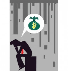recession vector image