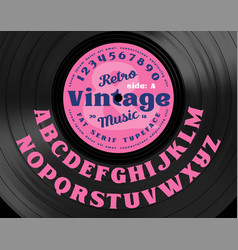Retro vintage serif bold typeface vector