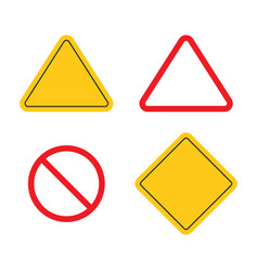 road sign shapes circle square triangle road vector image
