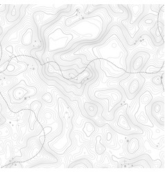 Seamless pattern topographic map background vector