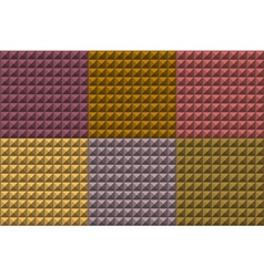 Seamless pyramid tiles pattern in multiple colors vector