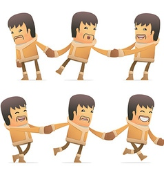 Set of eskimo character in different poses vector