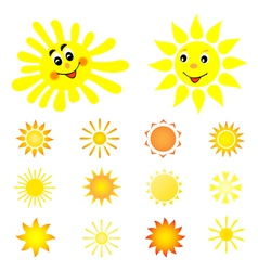 set of the sun vector image