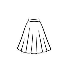 Skirt hand drawn sketch icon vector