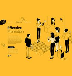 Social media promotion vector