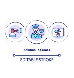 Solution to crimes concept icon vector
