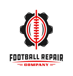 sports football gear logo design vector image