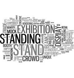 Standing word cloud concept vector