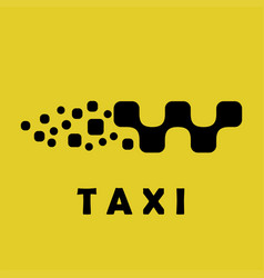 Taxi logo sign car shape vector