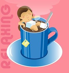 Tea Relax vector image