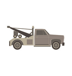 Tow truck flat icon for transportation faults and vector