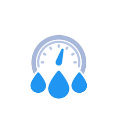 Water consumption icon on white vector
