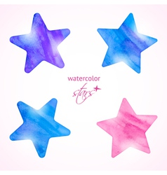 Watercolor stars set vector image