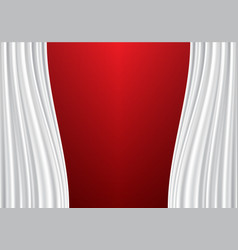 White curtain on red design background vector