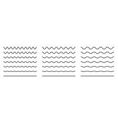Wiggly squiggle lines wiggle waves set wavy vector