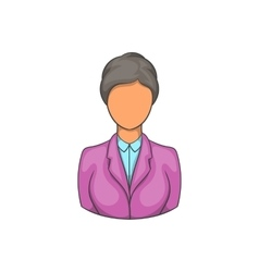Woman receptionist at hotel icon cartoon style vector