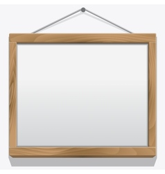 Wood frame isolated on white vector image