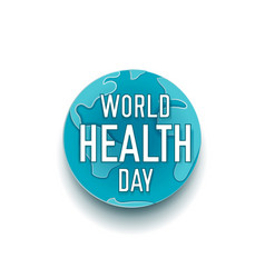 world health day banner paper cut vector image