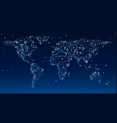world map in clear sky vector image