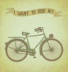 bici ride2 vector image vector image