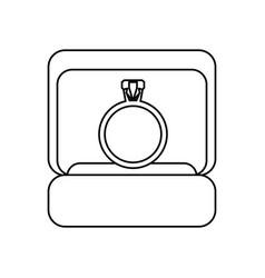 box ring wedding symbol outline vector image