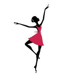 graceful dancer with a butterfly vector image vector image